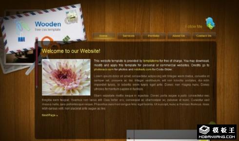 木板背景信息单页面网页模板