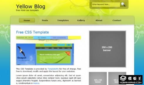 黄蓝渐变BLOG网页模板