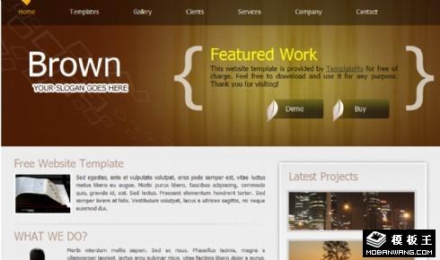 棕色企业产品介绍网页模板