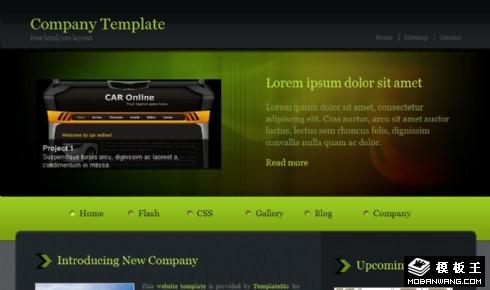 暗绿科技产品信息网页模板