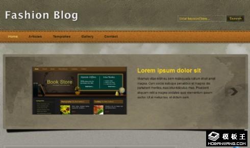 灰棕皮质界面BLOG网页模板