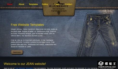 牛仔界面服饰设计网页模板