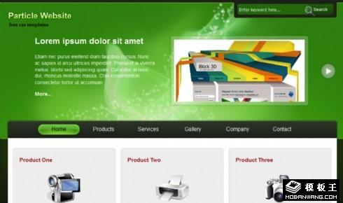 绿色产品服务动态网页模板