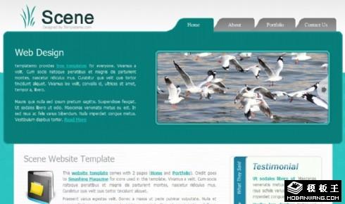绿色环境保护介绍网页模板