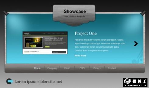展示面板信息网页模板