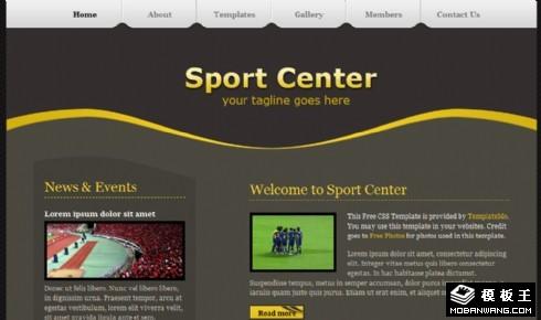 深棕体育中心信息网页模板