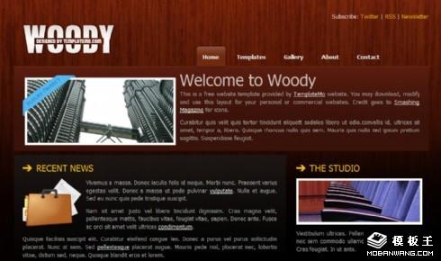 红木纹企业信息网页模板