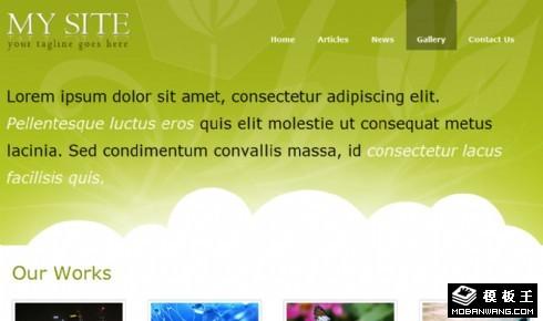 绿色图文信息网页模板