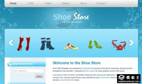 蓝色鞋业产品销售网页模板