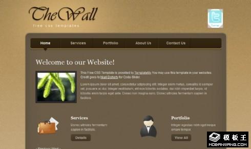 棕色信息墙网页模板
