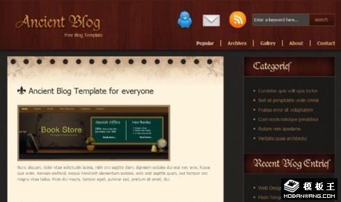 复古产品BLOG网页模板