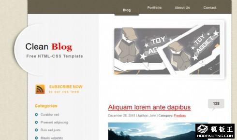 简洁创意二列BLOG网页模板