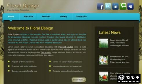 花卉装饰设计网页模板