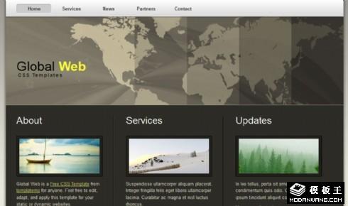 国际技术支持信息网页模板