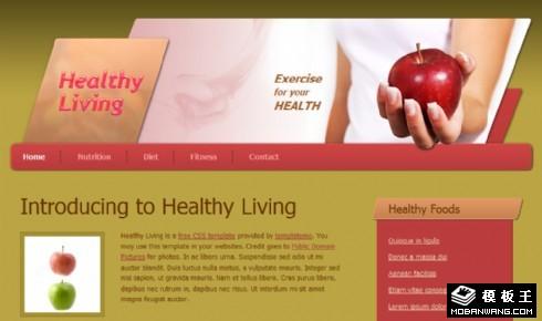 健康营养水果产品网页模板