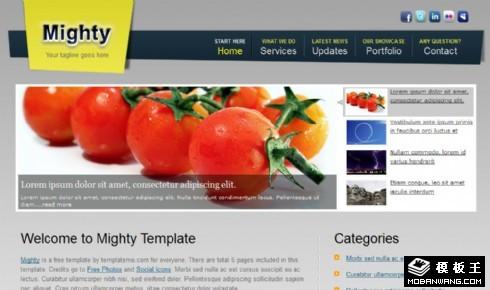 机构服务最新动态网页模板
