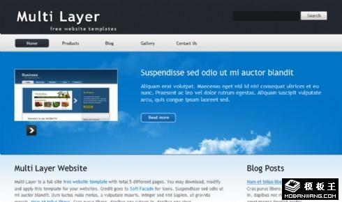 蓝色科技产品动态网页模板