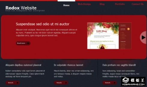 黑红企业技术动态网页模板