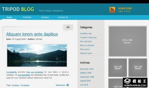 摄影记录BLOG网页模板