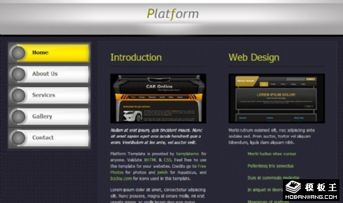 深紫信息介绍网页模板