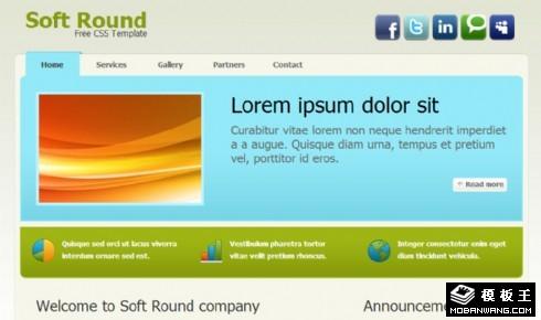 软件公司产品动态网页模板