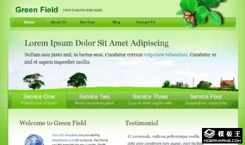 绿色田野信息介绍网页模板