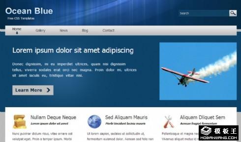 深蓝项目动态网页模板