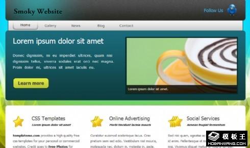 蓝绿炫彩信息动态网页模板
