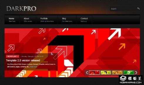 暗黑设计机构网页模板
