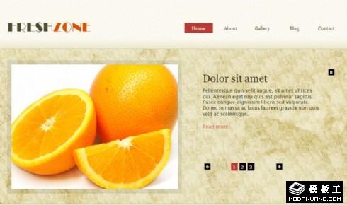 新鲜食材动态网页模板