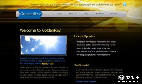 暗黑金光信息动态网页模板