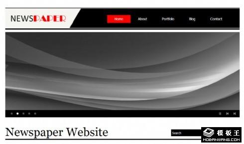 新闻媒体信息动态网页模板