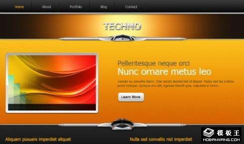 黑科技产品展示网页模板