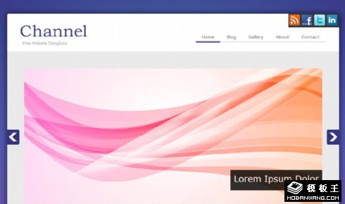 紫色频道信息网页模板