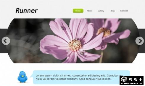 简洁产品信息日志网页模板