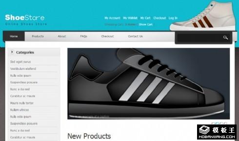 鞋业网店产品网页模板