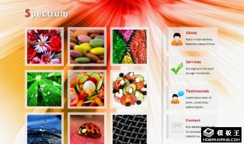 红色光谱产品单页面网页模板