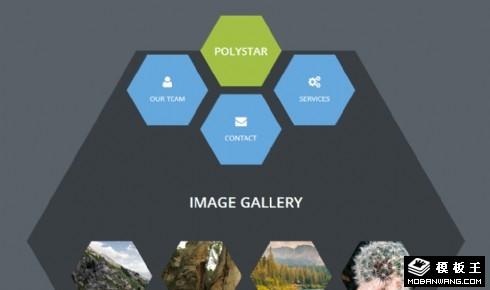 六边形蜂窝展示信息网页模板