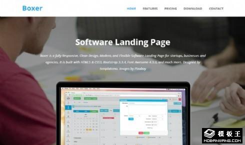 财务管理信息响应式网页模板