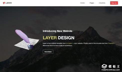 简洁设计信息响应式网页模板