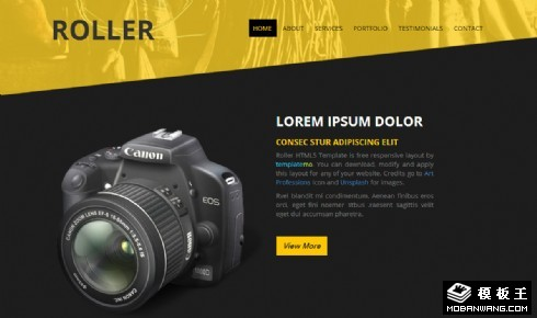 摄影机构动态响应式网页模板
