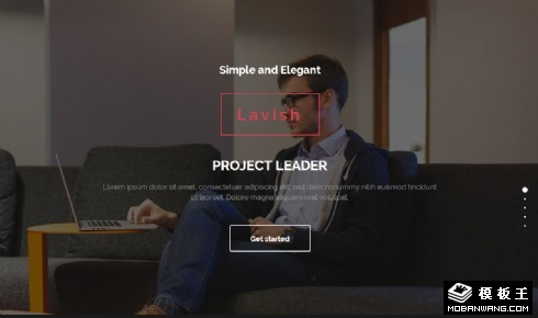 个人技能作品展示响应式网页模板