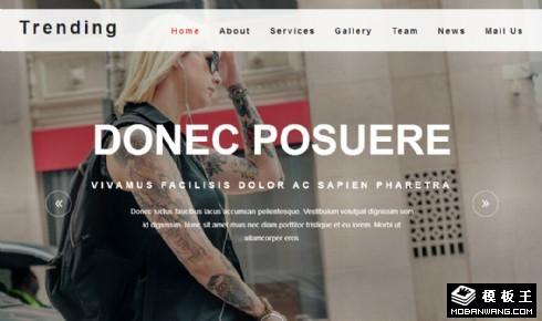时尚造型服务动态响应式网页模板