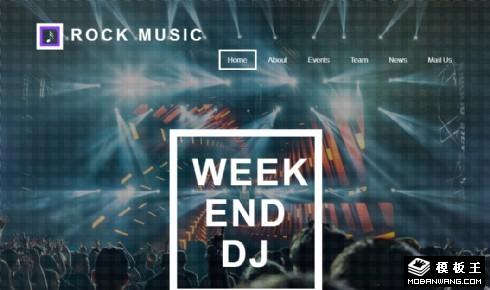 摇滚乐队演出展示响应式网页模板