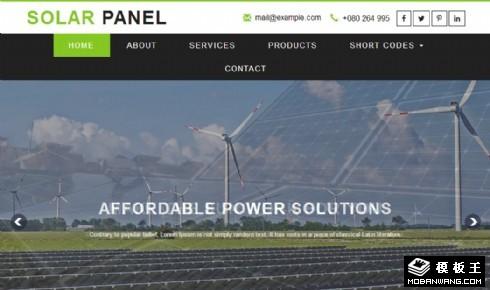 太阳能电池板设备响应式网页模板