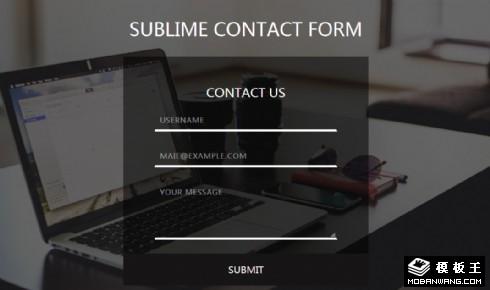 工作联系信息表单响应式网页模板