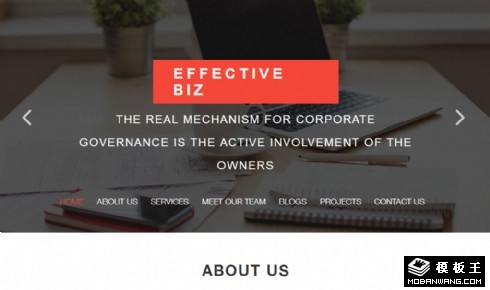 商务效率展示响应式网页模板