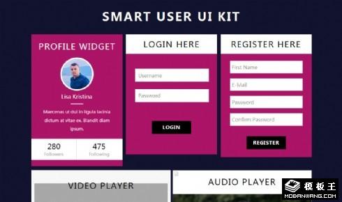 智能用户UIKIT组件响应式网页模板