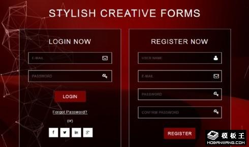 暗红科技登录注册表单响应式网页模板