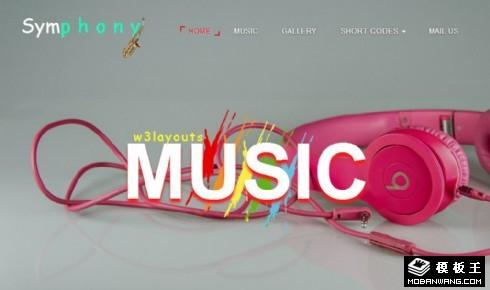 音乐视听演出响应式网页模板